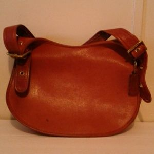 Vintage Coach Leather Foldover Handbag Purse